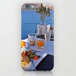 Oia, Santorini, Greece.. Breakfast with a View! iPhone Case