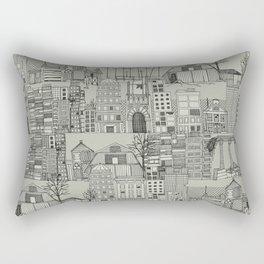 dystopian toile mono Rectangular Pillow
