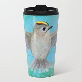 Goldcrest in top Travel Mug