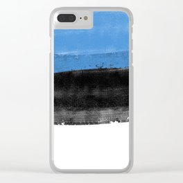 ESTONİA FLAG for tote bags and moremore! İllustration and painting design! Clear iPhone Case