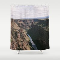 rio Shower Curtains featuring Rio Grande by justin flores