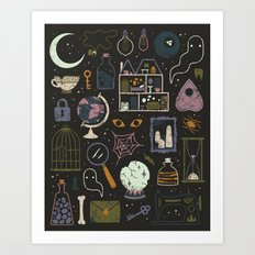 Haunted Attic Art Print