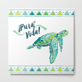 Costa Rica Turtle Metal Print