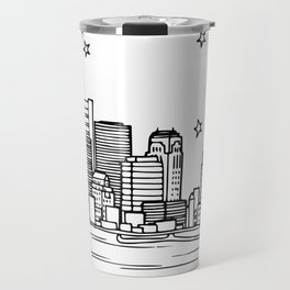 Boston, Massachusetts City Skyline Illustration Drawing Travel Mug