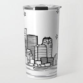 Boston, Massachusetts City Skyline Illustration Drawing Travel Mug