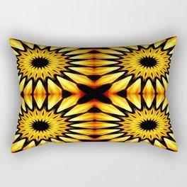 Gold Pinwheel Flowers Rectangular Pillow