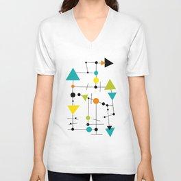 Abstract Modern  22 Unisex V-Neck