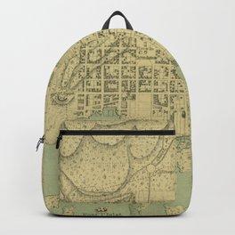 Vintage Map of Port Au Prince Haiti (1899) Backpack