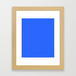 Bright blue Framed Art Print