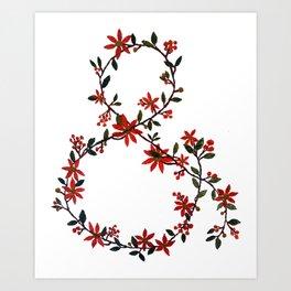 Floral Ampersand Art Print