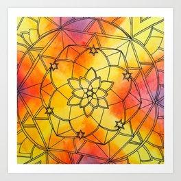 Pitter Pattern 8 Art Print