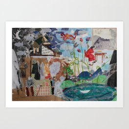 Two parallel worlds Art Print