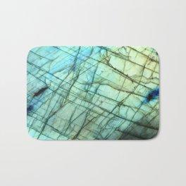 Teal Labradorite Gemstone print Bath Mat