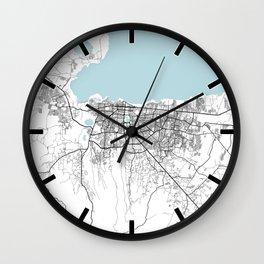 Managua City Map of Nicaragua - Circle Wall Clock