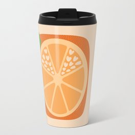 Orange Heart Travel Mug