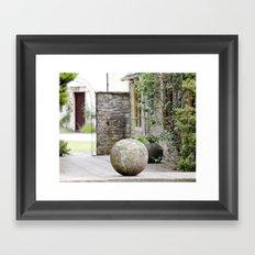 English Garden - Stone Ball Framed Art Print