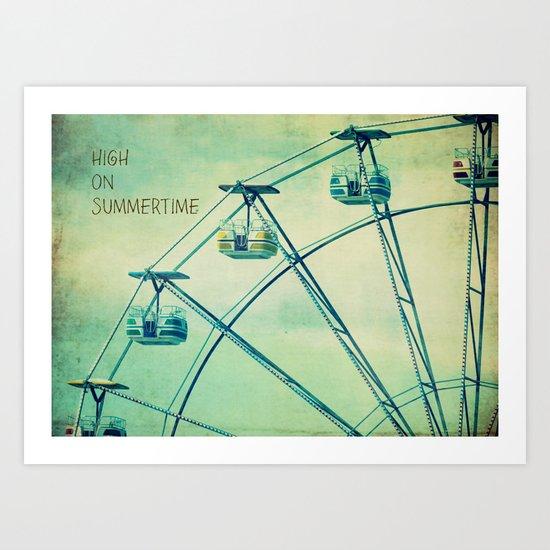 High On Summertime Art Print