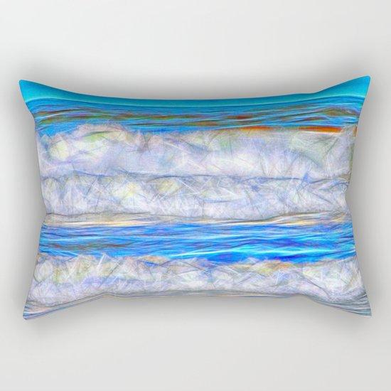 Abstract beautiful ocean waves Rectangular Pillow