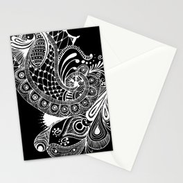 Black Tie Peacock Stationery Cards