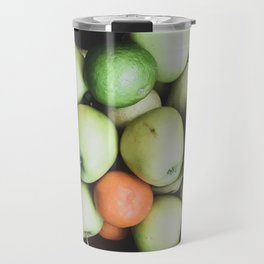Top view of a bowl of fruit Travel Mug