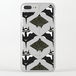 mantas and spotted eagle rays Clear iPhone Case