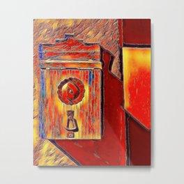 Mailbox-Santa Fe Metal Print