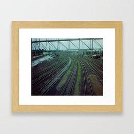 Russia. Railway. Framed Art Print
