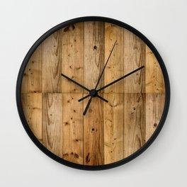 Wood 6 Wall Clock