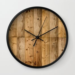 Wood 6 Wall Clock