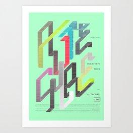 Autechre Oversteps Tour Poster Art Print