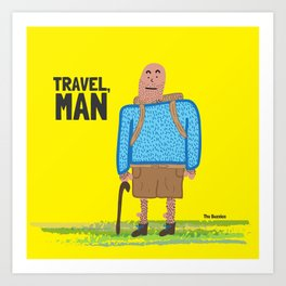 Travel, Man Art Print