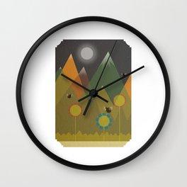 Night hills Wall Clock