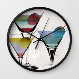 Martini Prism Wall Clock
