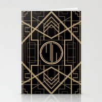 the great gatsby Stationery Cards featuring MJW- GREAT GATSBY STYLE by MATT WARING
