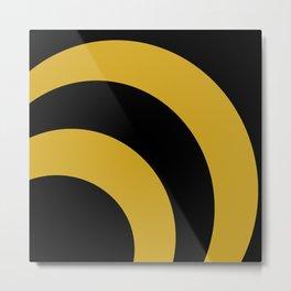 Black & Gold 360 Metal Print