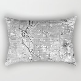 Denver White Map Rectangular Pillow