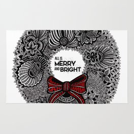 Holiday Wreath Rug