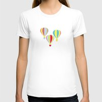 hot air balloons T-shirts featuring Hot Air Balloons by Jessica Draws