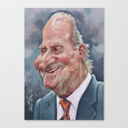 Caricature of Juan Carlos I de España Canvas Print