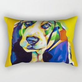 Pop Art Basset Hound Rectangular Pillow