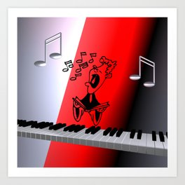just a song for you -2- Art Print