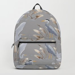 Great Blue Heron - Gray Backpack