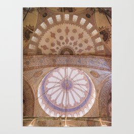 Ceiling of the Blue Mosque Poster