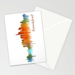Frankfurt am Main, City Cityscape Skyline watercolor art v2 Stationery Cards