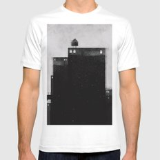 City steps White MEDIUM Mens Fitted Tee