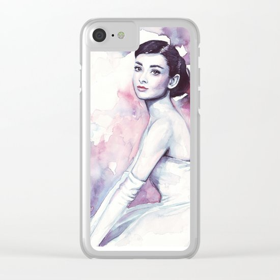 Audrey Hepburn Clear iPhone Case