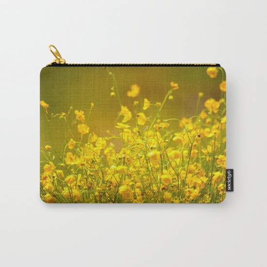 Yellow Mellow Flowers Carry-All Pouch