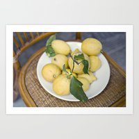 when life hands you lemons::cinque terre, italy Art Print