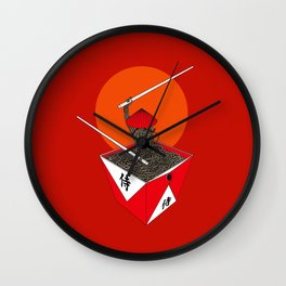 Samurai in Box Wall Clock