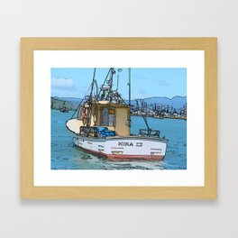 Boat at Whitianga, NZ Framed Art Print